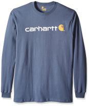 Carhartt Men's Big & Tall Signature Logo Jersey Long Sleeve T-Shirt Graphic
