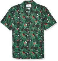 Amazon Brand - 28 Palms Men's Standard-Fit 100% Cotton Holiday Christmas Hawaiian Shirt