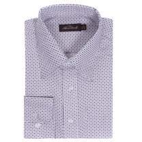 Alberto Danelli Men's Printed Shirt, Long Sleeve Button-Down, Microfiber Dress Shirt, Regular Fit