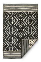Fab Habitat Reversible Rugs | Indoor or Outdoor Use | Stain Resistant, Easy to Clean Weather Resistant Floor Mats | Kilimanjaro - Black, 3' x 5'