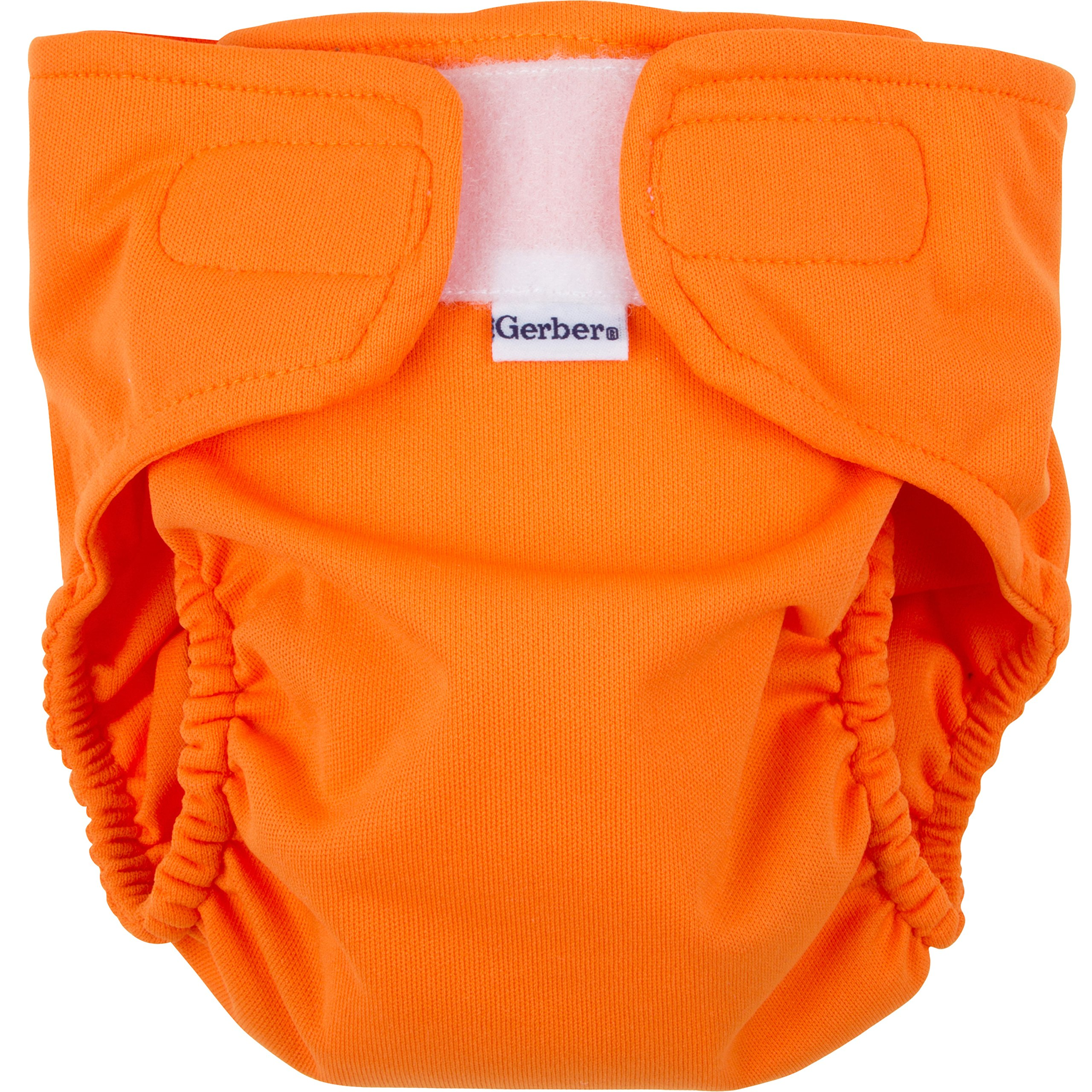 Gerber All-in-One Reusable Diaper with Insert Starter Set, Orange, Small