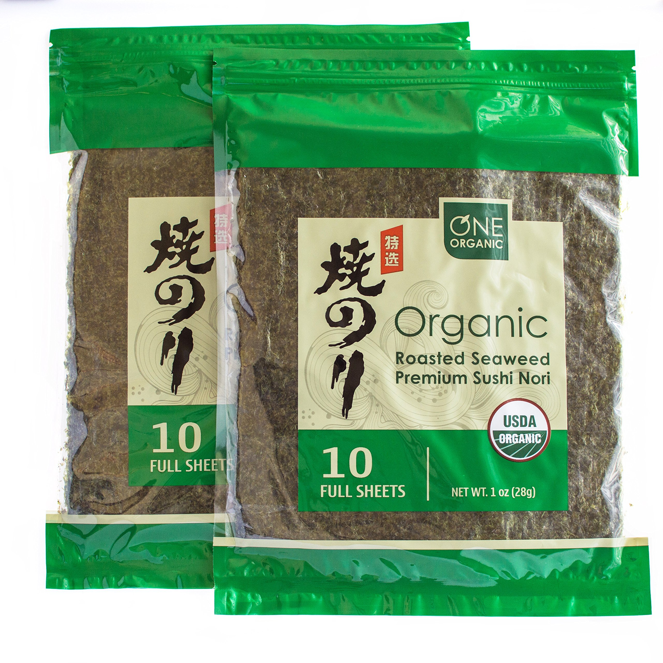 ONE ORGANIC ROASTED SEAWEED (10 sheets/2 pack)