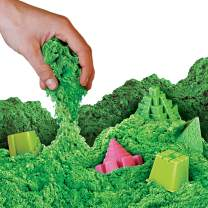NATIONAL GEOGRAPHIC Play Sand - 12 LBS of Sand with Castle Molds (Green) - A Kinetic Sensory Activity