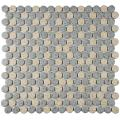 "SomerTile FKOMPR87 Penny Cookies and Cream Porcelain Floor/Wall Tile, 12"" x 12.625"", Grey/Brown"