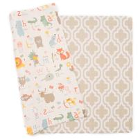 Baby Care Play Mat - Haute Collection (Large, Moroccan - Beige) - Play Mat for Infants – Non-Toxic Baby Rug – Cushioned Baby Mat Waterproof Playmat – Reversible Double-Sided Kindergarten Mat