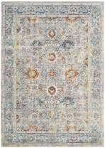 Safavieh Mystique Collection MYS924R Vintage Watercolor Grey and Multi Distressed Area Rug (5' x 8')