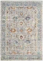Safavieh Mystique Collection MYS924R Vintage Watercolor Grey and Multi Distressed Area Rug (3' x 5')