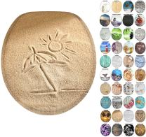 Sanilo Round Toilet Seat, Wide Choice of Slow Close Toilet Seats, Molded Wood, Strong Hinges (Sunshine)