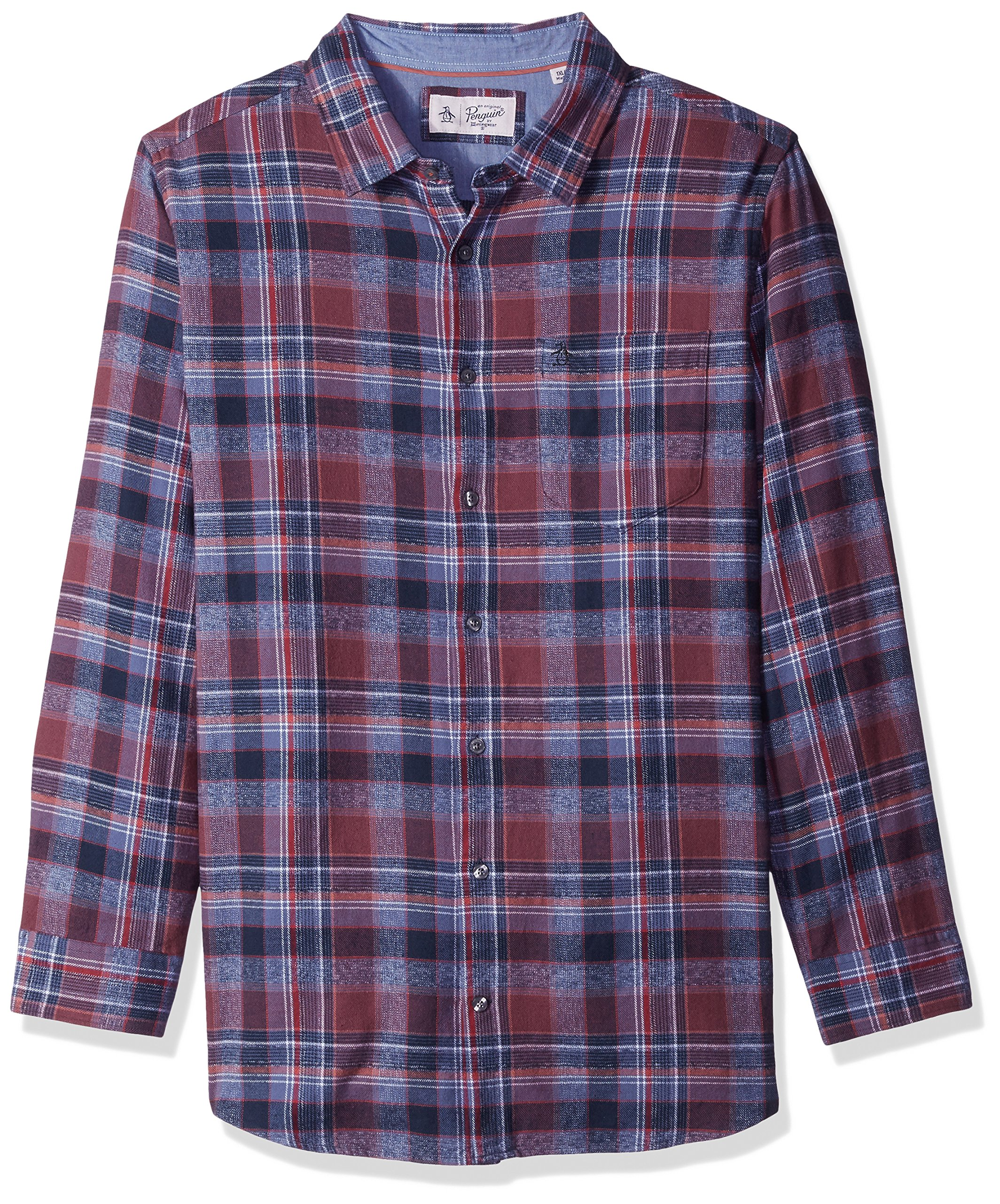 Original Penguin Men's Big and Tall Twisted Yarn Flannel