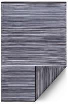 Fab Habitat Reversible Rugs | Indoor or Outdoor Use | Stain Resistant, Easy to Clean Weather Resistant Floor Mats | Cancun - Midnight, 3' x 5'