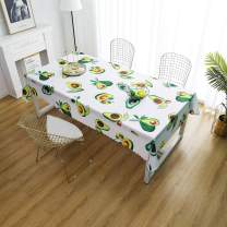 """iLiveX Tablecloth, Original Design Hand Drawing Art Print Table Cloth, Water-Proof Rectangle Table Cover, Kitchen Dining Indoor Outdoor Buffet Tabletop Decoration, 52""""x72"""" (Avocados)"""