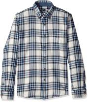 IZOD Men's Slim Fit Stratton Long Sleeve Button Down Plaid Flannel Shirt