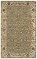 SUPERIOR Elegant Heritage Collection Area Rug, 10mm Pile Height with Jute Backing, Timeless and Beautiful Nature Design, Anti-Static, Water-Repellent Rugs - Green, 8' x 10' Rug