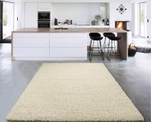 "Sweet Home Stores Cozy Shag Collection Solid Shag Rug Contemporary Living & Bedroom Soft Shaggy Area Rug, 39"" L x 60"" W, Cream"