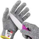 NoCry Cut Resistant Gloves for Kids, XXS (4-7 Years) - High Performance Level 5 Protection, Food Grade. Free Ebook Included!