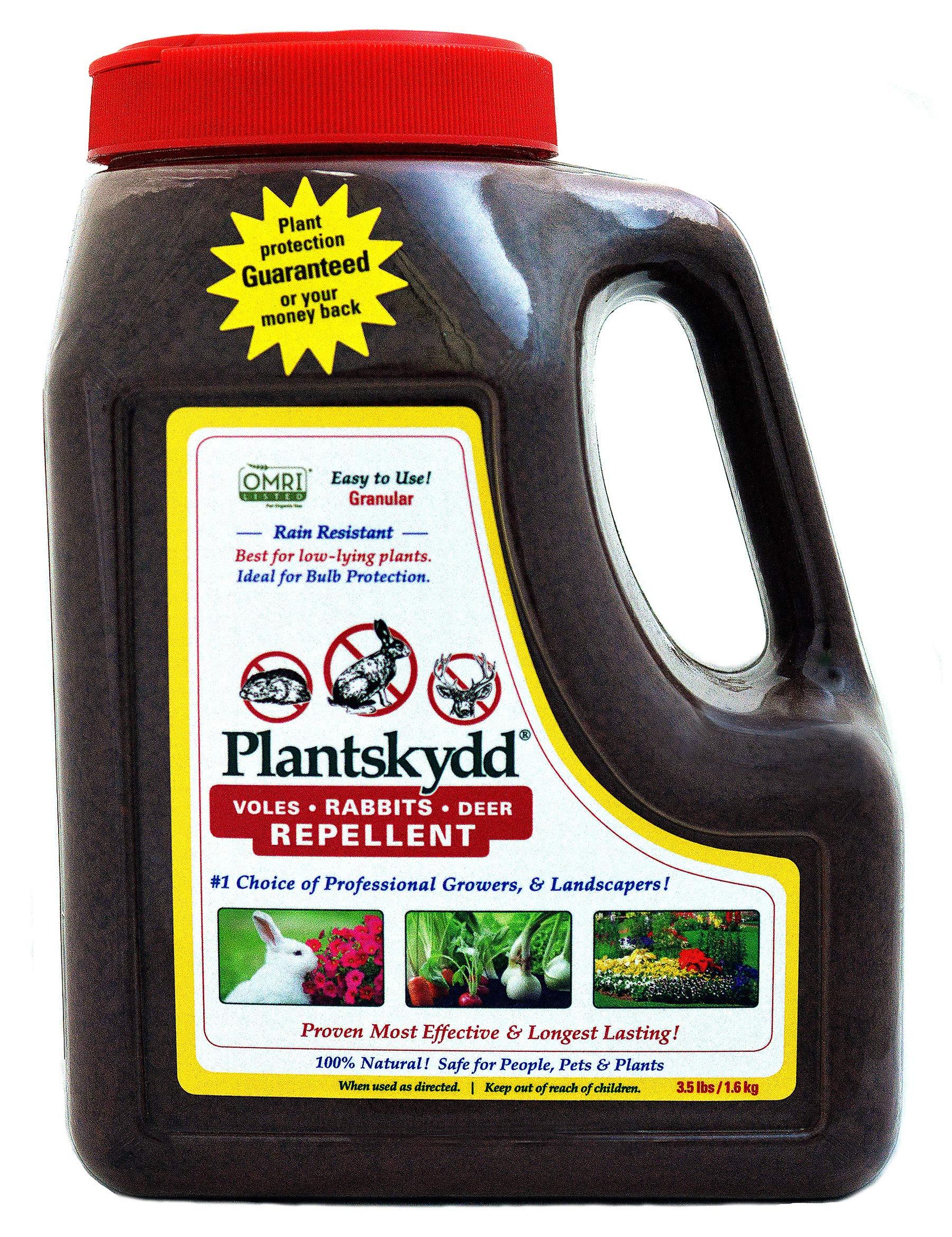 Plantskydd Animal Repellent - Repels Deer, Rabbits, Elk, Moose, Hares, Voles, Squirrels, Chipmunks and Other Herbivores; Organic Granular - 3.5 LB Shaker Jug (PS-VRD-3)
