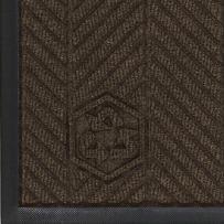 "M+A Matting 2240 Waterhog Eco Elite PET Polyester Fiber Indoor/Outdoor Floor Mat, SBR Rubber Backing, 10' Length x 3' Width, 3/8"" Thick, Chestnut Brown"