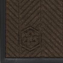 "M+A Matting 2240 Waterhog Classic ECO Elite PET Polyester Entrance Indoor Floor Mat, SBR Rubber Backing, 3' Length x 2' Width, 3/8"" Thick, Chestnut Brown"