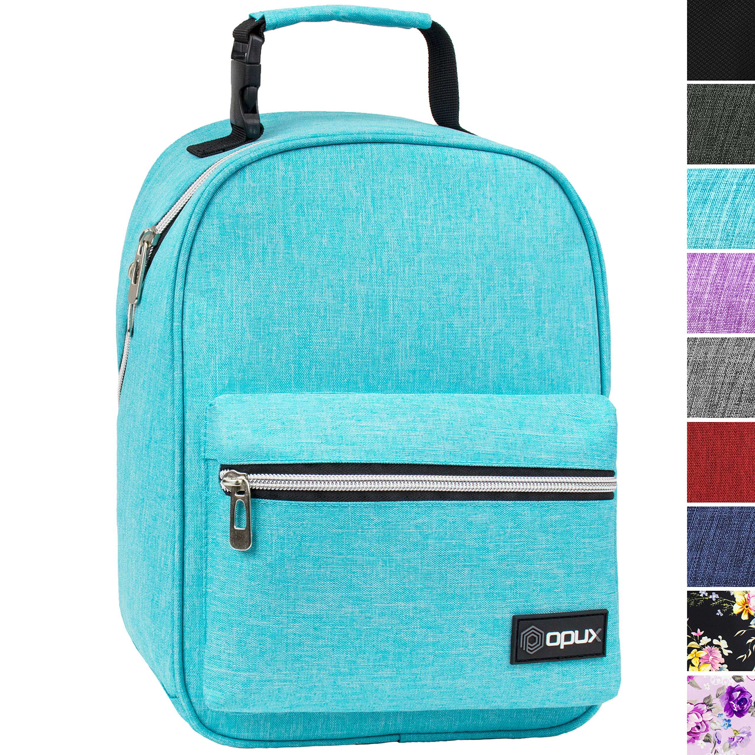 OPUX Premium Insulated Lunch Box for Boys, Girls | Durable Leakproof School Lunch Bag with Handle Clip, Mesh Pocket | Reusable Work Lunch Pail Cooler for Adult, Men, Women | Fits 14 Cans (Sea Blue)