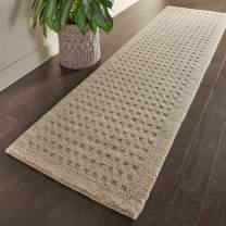 "Amazon Brand – Stone & Beam Casual Geometric Wool Rug, 8' x 2' 3"", Taupe"