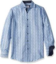 Azaro Uomo Men's Shiny Dress Shirt Wrinkle Free Casual Button Down Untucked