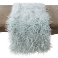 """SARO LIFESTYLE Table linen, 16"""" x 72"""", Ice Blue"""