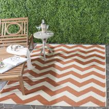 Safavieh Courtyard Collection CY6244-241 Terracotta and Beige Indoor/ Outdoor Area Rug (8' x 11')