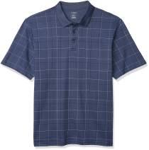 Van Heusen Men's Big and Tall Flex Short Sleeve Stretch Windowpane Polo Shirt