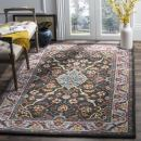 Safavieh Heritage Collection HG737A Charcoal Grey and Ivory Area Rug (5' x 8')