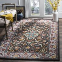 Safavieh Heritage Collection HG737A Charcoal Grey and Ivory Area Rug (8' x 10')
