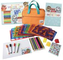 Drawing Stencils Set for Kids - Stencils for Kids with 300 Shapes to Spark Creativity- Great for Kids Home Activities - Includes Carrying Case, Colored Pencils, Sketch Pad, Markers, Erase Board,+ More
