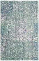 Safavieh Mystique Collection MYS977F Vintage Watercolor Blue and Multi Distressed Area Rug (3' x 5')