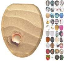 Sanilo Elongated Toilet Seat, Wide Choice of Slow Close Toilet Seats, Molded Wood, Strong Hinges (Clam)