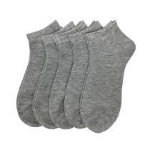 Women Bamboo Ankle Socks Ankle Length Thin Sock Odor Resistant Low Cut Sock 5 Pair