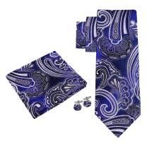 Twenty Dollar Tie Men's Venice Paisley Tie Pocket Square Cuff-links Set