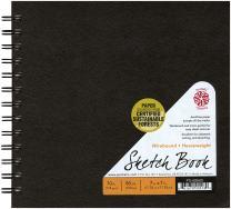 Pentalic Sketch Book, Wirebound, 7-Inch by 7-Inch