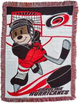 """Officially Licensed NHL """"Score"""" Woven Jacquard Baby Throw Blanket, Multi Color, 36"""" x 46"""""""
