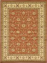 Unique Loom Voyage Collection Traditional Oriental Classic Brick Red Area Rug (9' 0 x 12' 0)