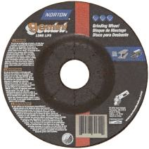 "Norton Gemini Depressed Center Abrasive Wheel, Type 27, Aluminum Oxide, 5/8""-11 Hub, 6"" Diameter x 1/8"" Thickness (Pack of 1)"