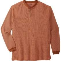 KingSize Men's Big & Tall Waffle-Knit Thermal Henley Tee