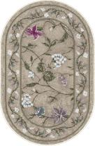 """Brumlow Mills Butterfly Floral Area Rug for Kitchen, Living Room or Home Accent Carpet, 20""""x34"""", Opal"""