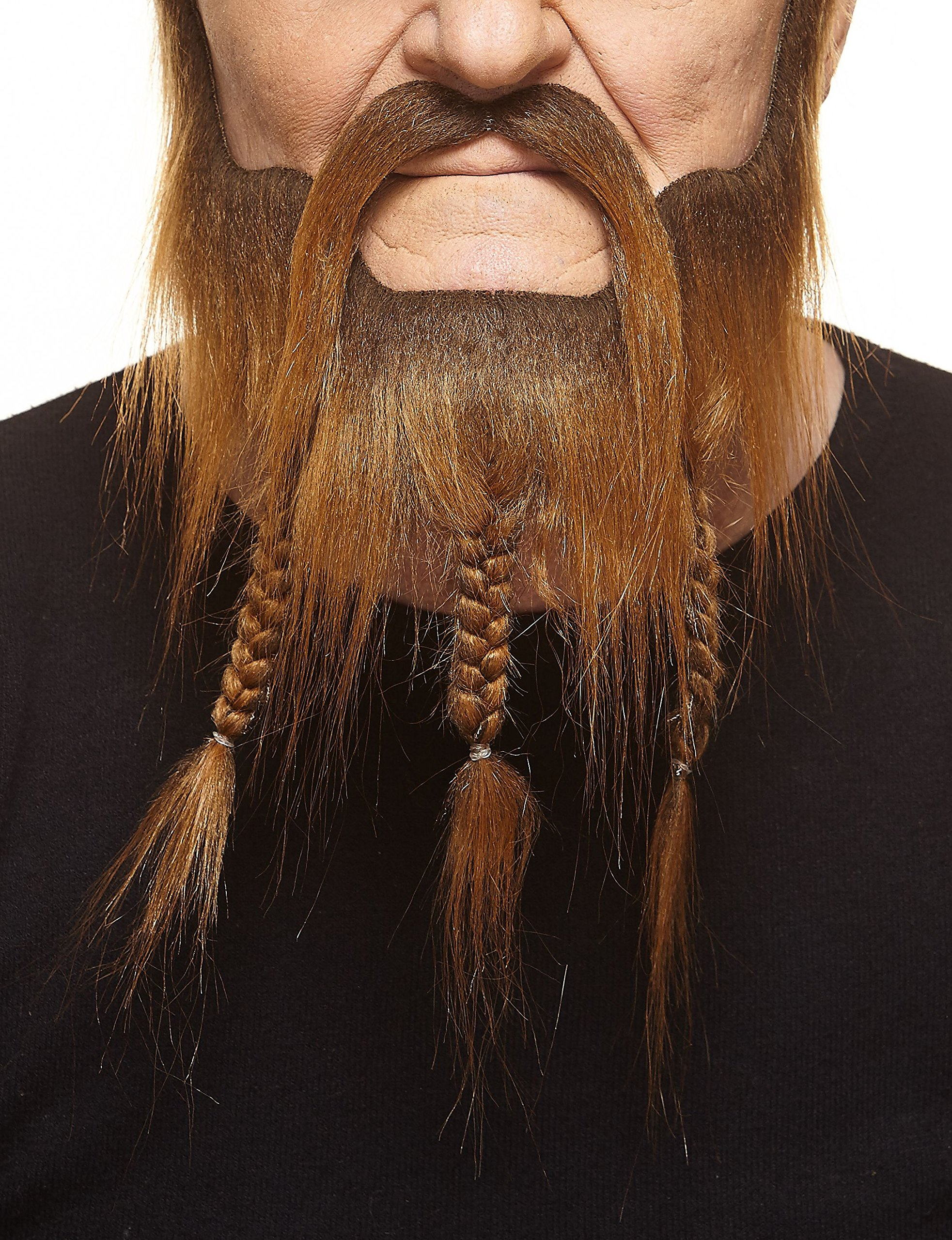 Mustaches Self Adhesive, Novelty, Braided, Captain Fake Beard and Fake Mustache