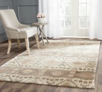 Safavieh Wyndham Collection WYD720A Handmade Natural and Multi Wool Area Rug, 10 feet by 14 feet (10' x 14')
