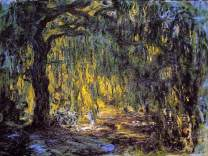 Monet Wall Art Collection Canvas Weeping Willow 2, 1918 by Claude Monet Prints Wrapped Gallery Wall Art | Stretched and Framed Ready to Hang 30X40