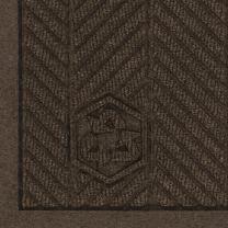 "M+A Matting 2297 Waterhog Eco Premier Fashion PET Polyester Fiber Indoor/Outdoor Floor Mat, SBR Rubber Backing, 8.4' Length x 6' Width, 3/8"" Thick, Chestnut Brown"