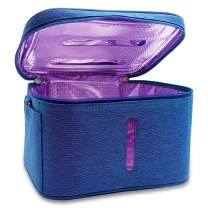 "UV Sterilizer Bag with 5000mAh Power Bank, Portable UV Sanitizer Bag, Disinfection with LED Light, Baby Bottle UV Sterilizing Bags, UV Disinfection Box, UV Light Bag, 9.85"" x 7.9"" x 6.3"" (Blue)"
