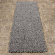 "Sweet Home Stores Cozy Shag Collection Grey Solid Shag Rug (2'0""X4'11"") Contemporary Living and Bedroom Soft Shaggy Runner Rug"