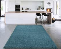 "Sweet Home Stores Cozy Shag Collection Solid Shag Rug Contemporary Living & Bedroom Soft Shaggy Area Rug, 39"" L x 60"" W, Turquoise Blue"