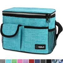 OPUX Insulated Lunch Bag, Durable Lunch Box for Adult Men Women | Medium Leakproof Cooler Tote Bag for Work School | Lunch Pail with Shoulder Strap, Pocket for Kids Boys Girls| Fits 8 Cans, Teal Blue