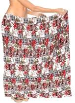 LA LEELA Women's Swimsuit Cover Up Beach Wrap Skirt Hawaii Sarongs Full Long F